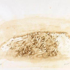1988: Wir sind nicht die Letzten | Aquarell auf Papier (56 x 76,5 cm)