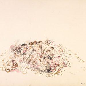 1988: Wir sind nicht die Letzten | Aquarell auf Papier (50,2 x 65,5 cm)