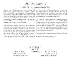 New York Galerie Shepherd Zoran Music