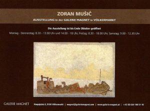 Zoran Music exhibition in the gallery Magnet - Völkermarkt.