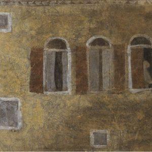 1983: Casa a Venezia | Mischtechnik auf altem Papier (37 x 48 cm)