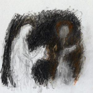 1990: Doppelporträt | Ölpastell auf Papier (36,7 x 31,8 cm)