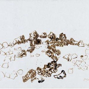 1979: Felslandschaft | Tusche auf Papier (20,9 x 29,6 cm)