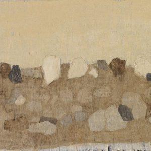 1979: Felslandschaft | Tempera auf Papier auf Leinwand kaschiert (20,5 x 31 cm)