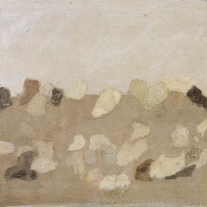 1979: Felslandschaft | Tempera auf Papier auf Leinwand kaschiert (53 x 60 cm)