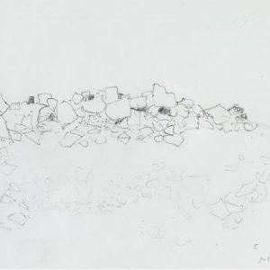 1979: Felslandschaft | Bleistift auf Papier (20,9 x 29,5 cm)