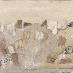 1978: Felslandschaft | Tempera auf Papier (21 x 29,5 cm)