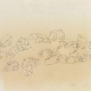 1979: Felslandschaft | Bleistift auf Papier (21,2 x 29 cm)