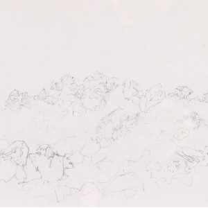 1979: Felslandschaft | Bleistift auf Papier (21 x 29,6 cm)