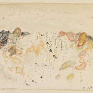 1977: Felslandschaft | Aquarell af Papier (14,4 x 20,7 cm)