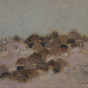 1980: Felslandschaft | Öl auf Leinwand (46 x 55 cm)