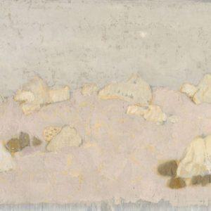 1978: Felslandschaft | Tempera auf Papier auf Leinwand kaschiert (20 x 31,5 cm)