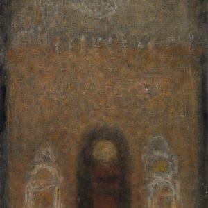 1985: Interieur einer Kathedrale | Öl auf Leinwand (91,5 x 59,5 cm)