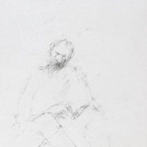 1989: Selbstporträt | Bleistift auf Papier (20,6 x 17,5 cm)