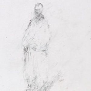 1989: Selbstporträt | Bleistift auf Papier (20 x 17,5 cm)