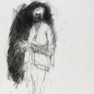 1989: Selbstporträt | Ölpastell auf Papier (27,1 x 20,9 cm)
