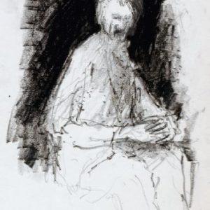 1989: Selbstporträt | Ölpastell auf Papier (24 x 15,4 cm)