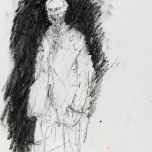 1989: Selbstporträt | Ölpastell auf Papier (27,1 x 20,5 cm)