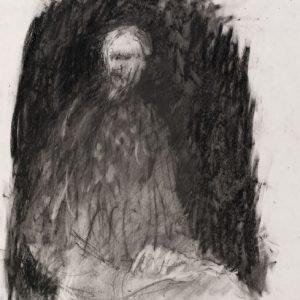 1990: Selbstporträt | Ölpastell auf Papier (36,7 x 31,6 cm)