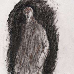 1990: Selbstporträt | Ölpastell auf Papier (37,8 x 31,1 cm)