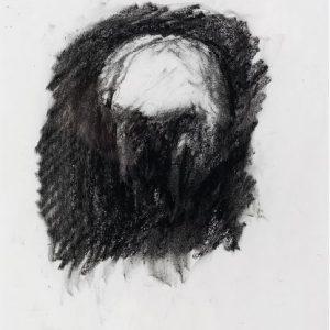 1989: Selbstporträt | Ölpastell auf Papier (26,6 x 19,5 cm)