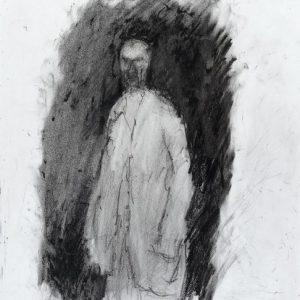 1990: Selbstporträt | Ölpastell auf Papier (36,5 x 31,4 cm)