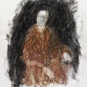 1990: Selbstporträt | Ölpastell auf Papier (37,4 x 31 cm)
