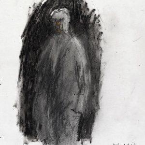 1990: Selbstporträt | Ölpastell auf Papier (40,7 x 26,1 cm)
