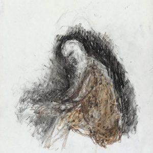 1990: Selbstporträt | Ölpastell auf Papier (37 x 31,1 cm)