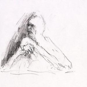 1991: Selbstporträt | Ölpastell auf Papier (29,4 x 20,5 cm)