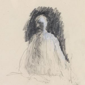 1991: Selbstporträt | Bleistift auf Papier (29,6 x 21 cm)