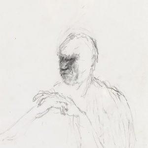 1991: Selbstporträt | Bleistift auf Papier (29,5 x 20,5 cm)