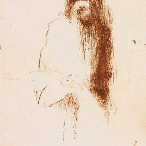 1991: Selbstporträt | Radierung auf Papier (40 x 30 cm)