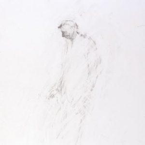1992: Selbstporträt | Bleistift auf Papier (47,8 x 33 cm)