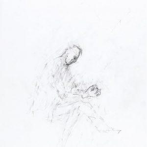 1992: Selbstporträt | Bleistift auf Papier (47,9 x 33 cm)
