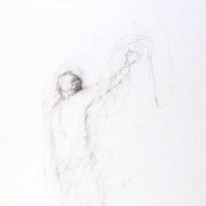 1992: Selbstporträt | Bleistift auf Papier (47,7 x 33 cm)