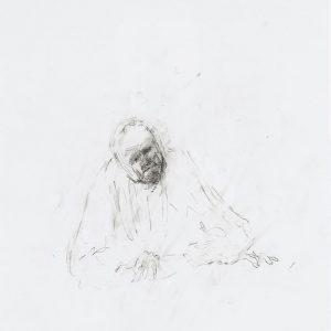 1992: Selbstporträt | Bleistift auf Papier (48 x 36 cm)