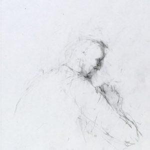 1992: Selbstporträt | Bleistift auf Papier (29,5 x 21,2 cm)