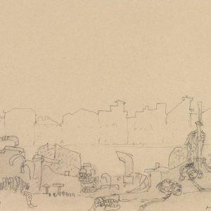 1980: Canale della Giudecca | Bleistift auf Papier (21 x 28 cm)