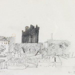 1980: Canale della Giudecca (Mulino Stucky) | Bleistift auf Papier (21,1 x 29,7 cm)