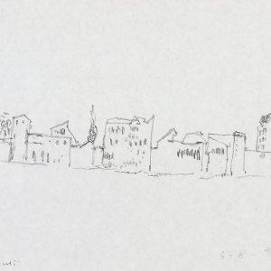 1980: Canale della Giudecca | Bleistift auf Papier (22 x 28 cm)