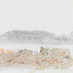 1980: Canale della Giudecca | Bleistift und Buntstifte auf Papier (22,1 x 27,8 cm)