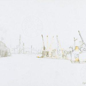 1981: Maghera | Bleistift und Buntstifte auf Papier (21 x 29,7 cm)