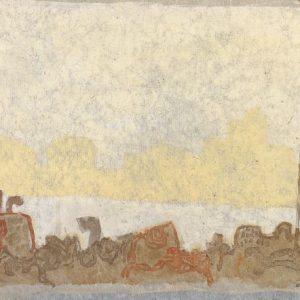 1981: Canale della Giudecca | Tempera auf Papier auf Leinwand kaschiert (26,8 x 39,2 cm cm)