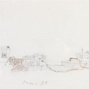 1982: Canale della Giudecca | Bleistift und Buntstifte auf Papier (20,8 x 29,6 cm)