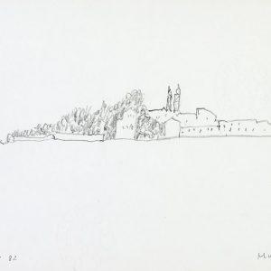 1982: Venedig | Bleistift auf Papier (21 x 29,7 cm)