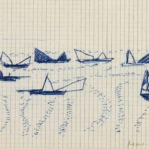 1947: Venezia | Kugelschreiber auf kariertem Papier (13,8 x 18,8 cm)