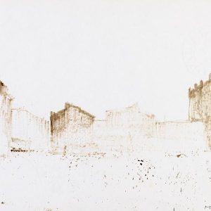 1982: La Giudecca (Mulino Stucky) | Braune Tinte auf Papier (21 x 29,7 cm)