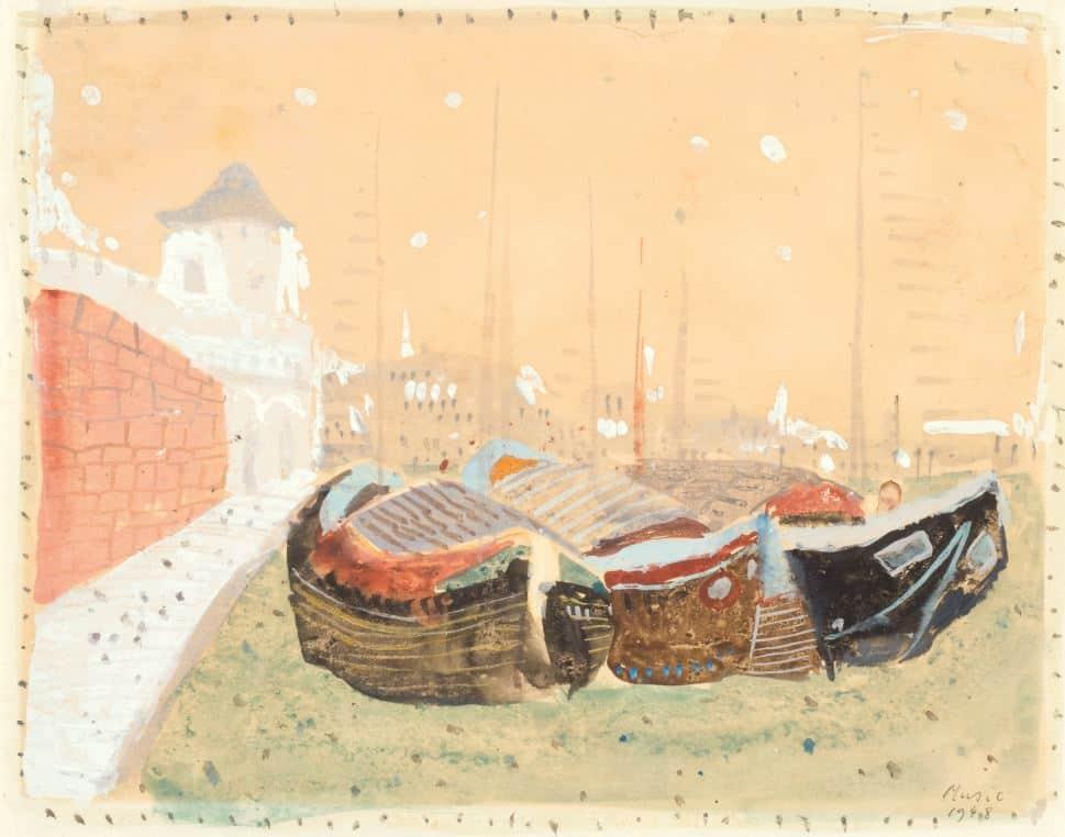 1948: Venezia | Gouache auf Papier (20,9 x 26,7 cm)