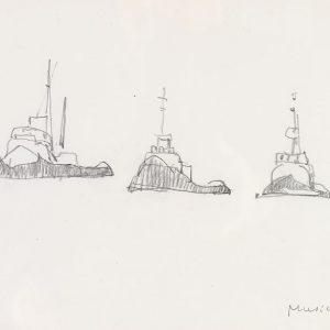 1980: Venedig | Bleistift auf Papier (21 x 29,7 cm)
